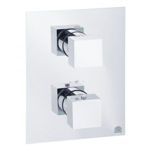 Built-in 3-way thermostatic shower mixer with diverter