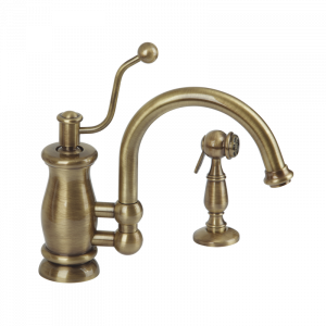 Sink mixer with movable spout and with shut-off shower Vivaldi