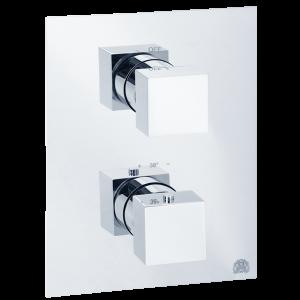 Смеситель скрытого монтажа 3-х позиционный, термостат
