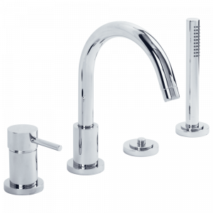 Bathtube set with diverter with pull-out shower