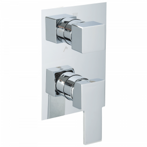 Built-in 5-way shower mixer with diverter