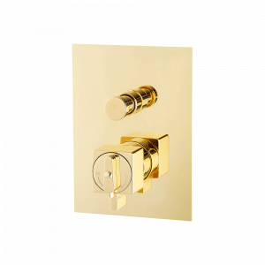 Built-in 2 way shower mixer with diverter, thermostatic