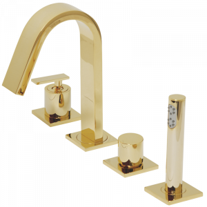 Bathtube set with pull-out shower