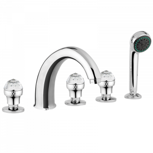 Bathtube set with pull-out handshower, Swarovski