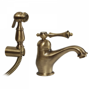 Washbasin mixer with shut-off handshower