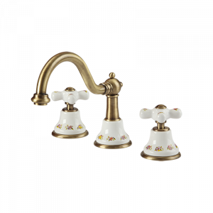 Washbasin mixer with click-clack, ceramic
