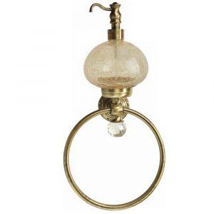 Дозатор жидкого мыла с кольцом настенный, Cristalia