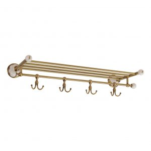 Shelf with hooks, L60 cm, Provance