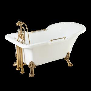 Ванна Impero белая на лапах Leone