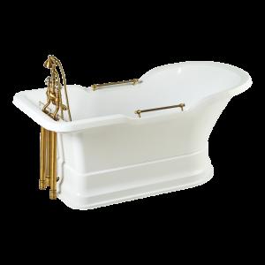 Ванна Impero Podium белая на белом подиуме