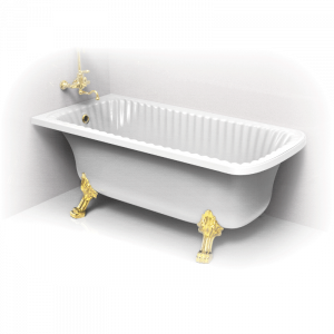 Bathtub Olivia Ang, 2 paws Leone, corner