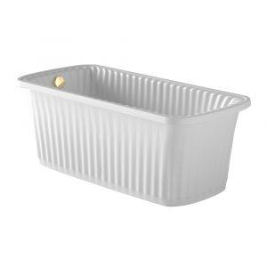 Olivia Panello. White bathtub