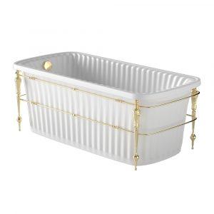 Olivia Console. White bathtub