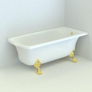 Olivia Angolare. Bathtub, 2 legs «Leone»