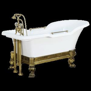 Ванна Impero Affusto белая на лафете