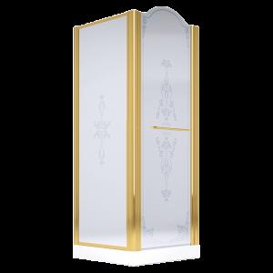 Душевая кабина квадратная с распашной створкой с фиксированным стеклом