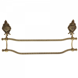 Double towel holder, L60