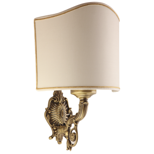 Wall lamp with textile abat-jour