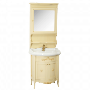 Washbasin furniture, mirror with door, washbasin