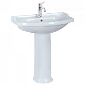 Washbasin 74 on pedestal, Flavia