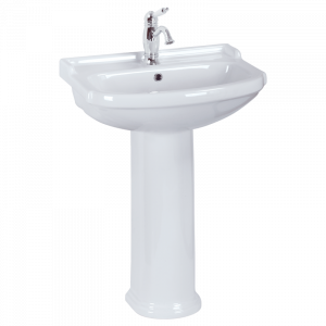 Washbasin 61 on pedestal, Flavia
