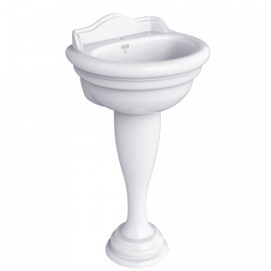 Washbasin 52 on pedestal, Milady