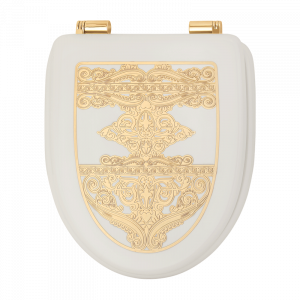 Toilet seat Laccato Bianco with decoration