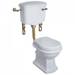 WC low level cistern with lever, Bella