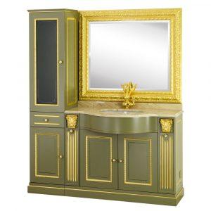 Marble top, washbasin furniture, sink, mirror, cabinet