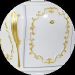 Laccato Bianco / декор Foglia Oro