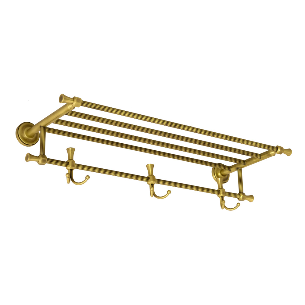 Полка-держатель для полотенец с 3-мя двойными крючками, L65 cm, Fortuna