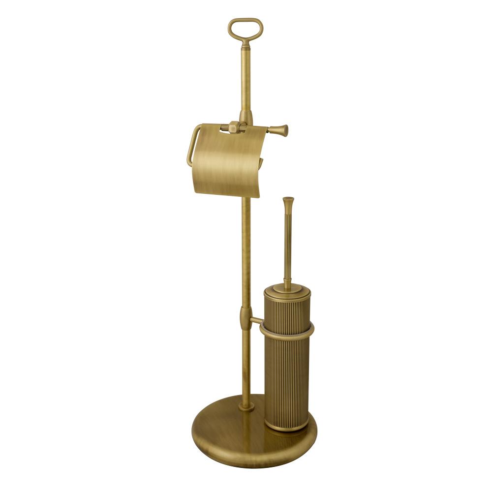 Стойка для WC 2-х функциональная, H74 cm, металл, Fortuna