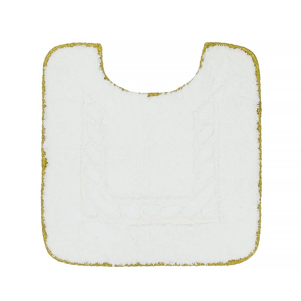 Коврик для WC, 60X60 cm, узор #2, тесьма «золото»