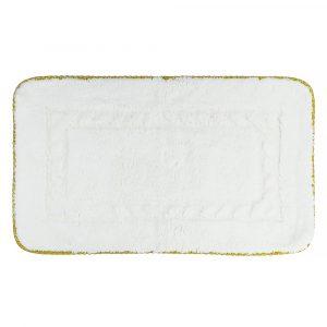Коврик для ванной комнаты, 100×60, тесьма «золото»