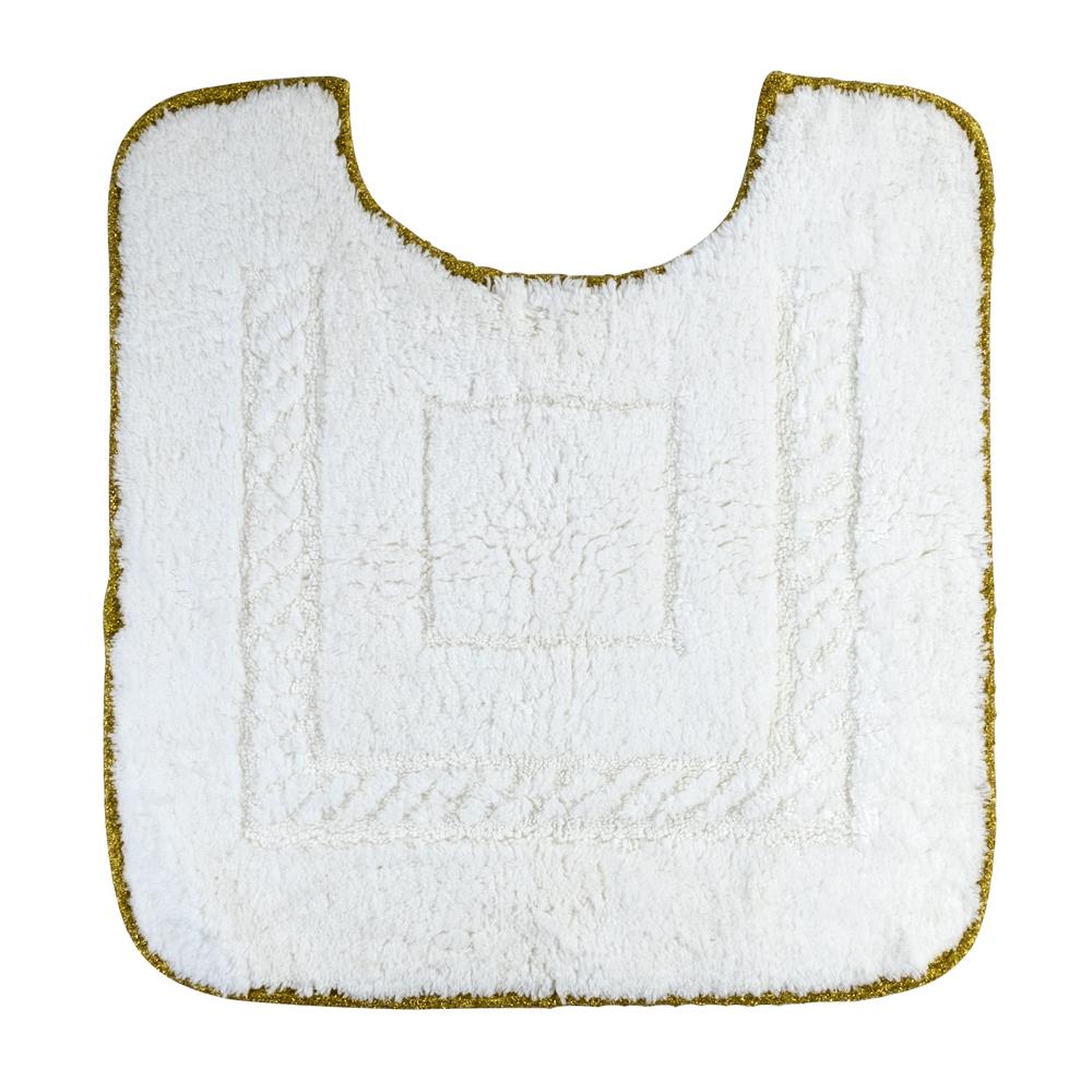 Коврик для WC, 60X60 cm, узор #1, тесьма «золото»