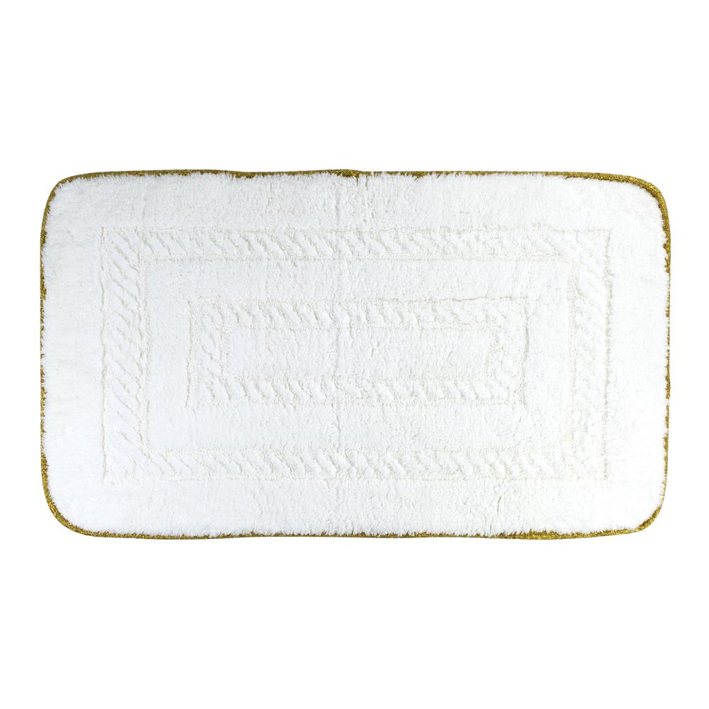 Коврик для ванной комнаты, 100X60 cm, узор #1, тесьма «золото»