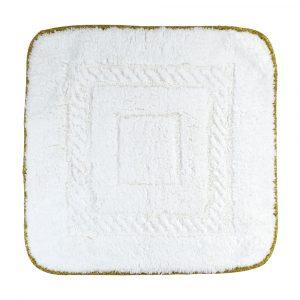 Коврик для ванной комнаты, 60×60, тесьма «золото»
