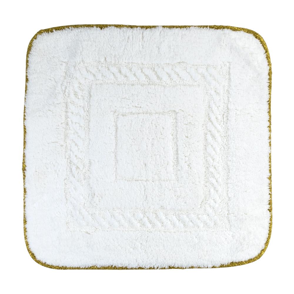 Коврик для ванной комнаты, 60X60 cm, узор #1, тесьма «золото»