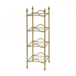 Rack with four shelves, L38 cm, Mirella