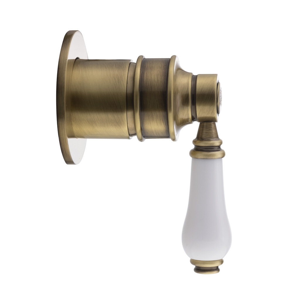 Смеситель скрытого монтажа, Ermitage Mini, ручка: белая керамика