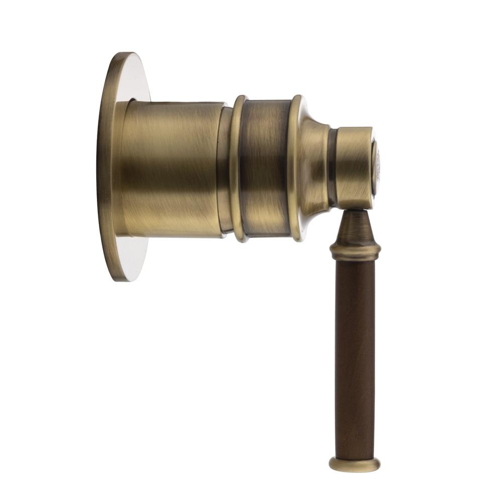 Смеситель скрытого монтажа, Ermitage Mini, ручка: орех