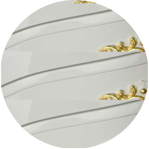 Цвет «белый глянцевый», декор «золото»