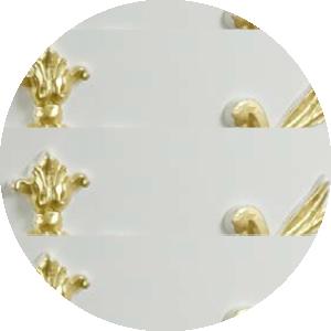 Цвет «белый матовый», декор «золото»