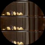 Цвет «орех темный», декор «золото»