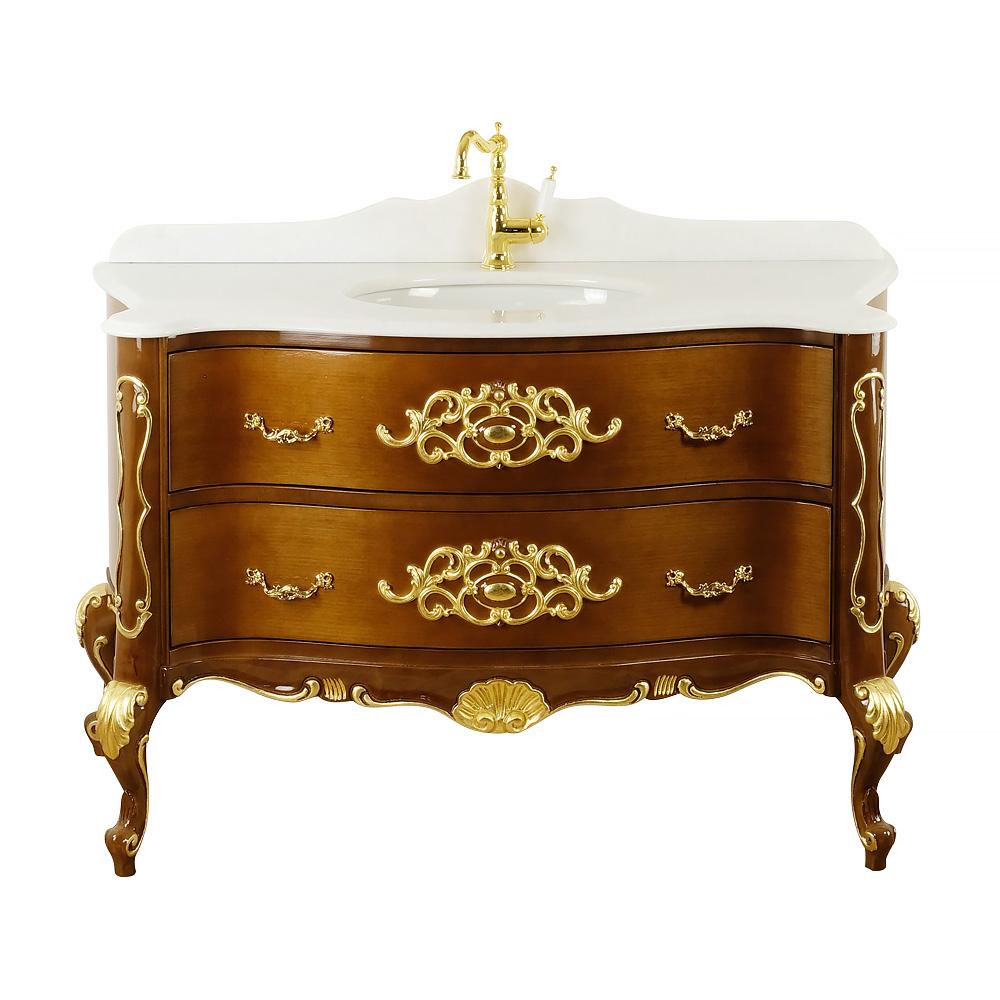 Комплект мебели, L139 cm, Virginia, цвет: орех светлый, декор: золото