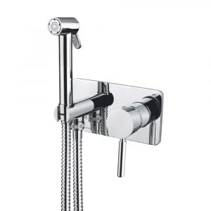 Built-in mixer with hygienic shower