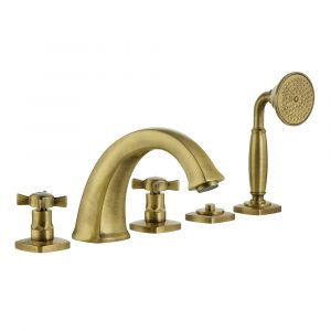 Bath Set with pull-out shower, Swarovski, Korona