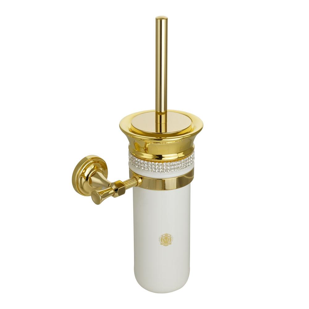 Ёршик подвесной, керамика, декор золото, swarovski держатель Fortuna, золото