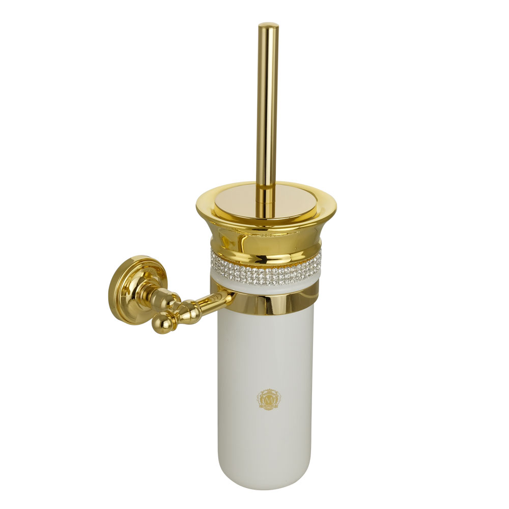 Ёршик подвесной, керамика, декор золото, swarovski держатель Mirella, золото