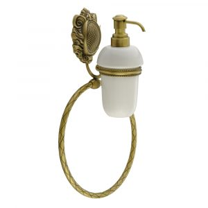 Дозатор жидкого мыла настенный с кольцом, Керамика